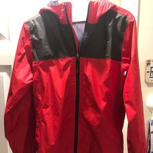 Boys North Face rain jacket size Large